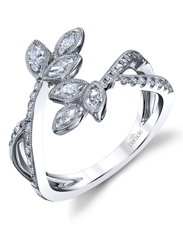 Contemporary designer diamond fashion wrap ring by Parade Design.